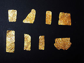 AN ANCIENT EGYPTIAN SHEET GOLD GROUP