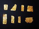 AN ANCIENT EGYPTIAN SHEET GOLD GROUP