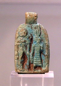 AN ANCIENT EGYPTIAN AMULET DEPICTING ONURIS AND TEFNUT