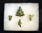 A GROUP OF ANCIENT EGYPTIAN FAIENCE CROWNS