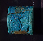 AN EGYPTIAN NEW KINGDOM FAIENCE RING