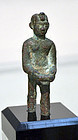 AN ANCIENT EGYPTIAN BRONZE PHARAOH