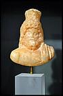A GRECO-ROMAN ALABASTER SERAPIS