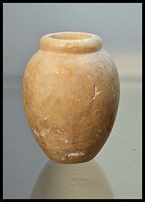 AN ANCIENT EGYPTIAN OLD KINGDOM ALABASTER JAR