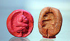 AN ANCIENT EGYPTIAN TERRACOTTA MOLD