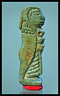 AN ANCIENT EGYPTIAN FAIENCE AMULET OF IMSETY