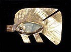 AN EGYPTIAN MIDDLE KINGDOM GOLD FISH AMULET
