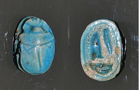 A FINE ANCIENT EGYPTIAN NEW KINGDOM SCARAB