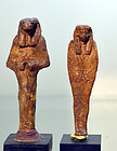A PAIR OF ANCIENT EGYPTIAN WAX FIGURES