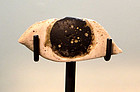 AN ANCIENT EGYPTIAN ALABASTER AND OBSIDIAN INLAID EYE