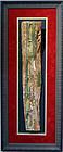 AN ANCIENT EGYPTIAN WOOD SARCOPHAGUS PANEL