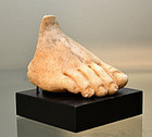 A ROMAN MARBLE FOOT