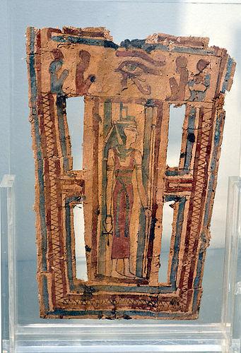 AN ANCIENT EGYPTIAN CARTONNAGE PANEL