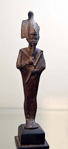 A LARGE BRONZE ANCIENT EGYPTIAN OSIRIS
