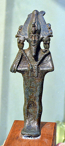 A FINE ANCIENT EGYPTIAN BRONZE OSIRIS
