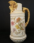 Royal Worcester Pitcher With Grotesque Head On Spout