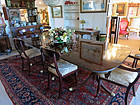 Schmieg & Kotzian Mahogany Triple Pedestal Dining Table