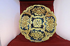Cobolt Blue and Gold Meissen Charger