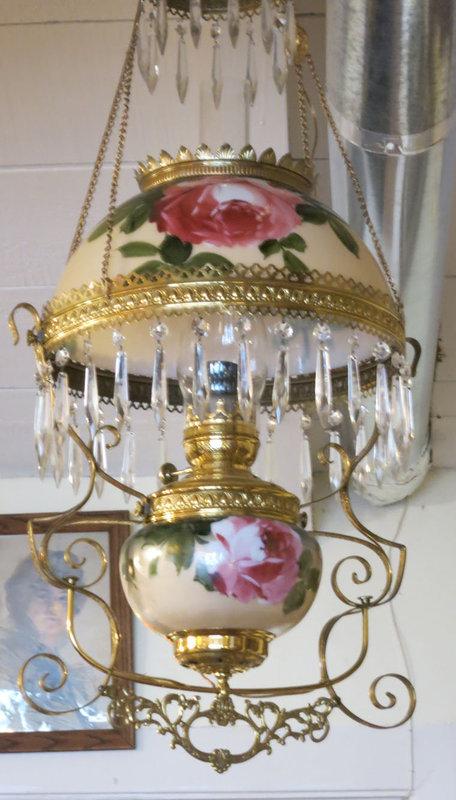Victorian Hand Painted Hanging Light Fixture
