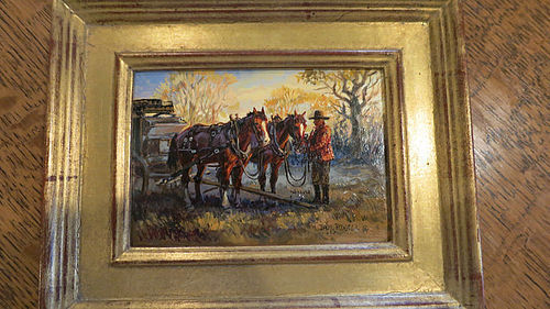 Dave Powell Oil on Board - Bumper & Thumper, A Team