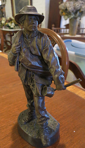 """Little Reb"" Bronze by J. N. Muir"