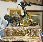 Antique French Bronze and Marble Clock - Napoleon's Tomb