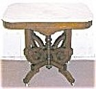 American Victorian Marble Top Table