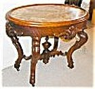 American Victorian Oval Marble Top Table