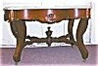 American Victorian Marble Top Coffee Table