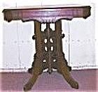 American Victorian Walnut & Burl Table