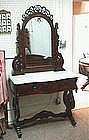 Mahogany Marble Top Dressing Table