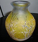 Daum Nancy Cameo Winter Scene Vase