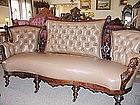 American Victorian Jelliff Sofa - Man's Heads