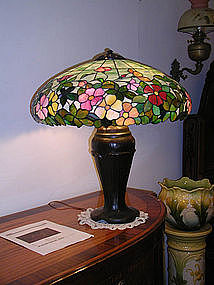 Morgan Leaded Glass Shade on Handel Base