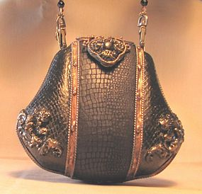 BLACK AND COPPER PURSE BY mAYA