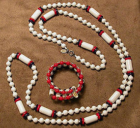 MIRIAM HASKELL GLASS BEADS SET