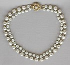 MIRIAM HASKELL TWO STRAND NECKLACE