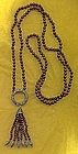 DECO MARQUISITE AND GLASS BEAD NECKLACE