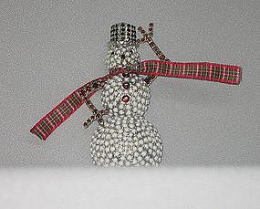 """DOROTHY BAUER'S """"SNOW  PERSON"""" BROOCH"""
