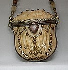 MAYA ANTIQUED IVORY RESIN PURSE