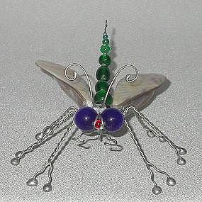 WINGED BUG PIN BY RICK SHELLEY