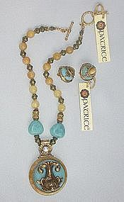 PATRICE DOLPHIN PENDANT NECKLACE AND EARRINGS