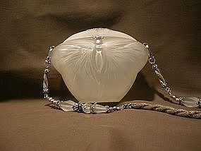 WHITE BUTTERFLY PURSE BY MAYA