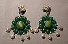 LAWRENCE VRBA GREEN DANGLE EARRINGS