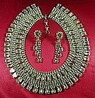 SORRELL RHINESTONE NECKLACE AND EARRINGS