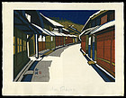 Jun'ichiro Sekino Tokaido Woodblock Print - Goyu