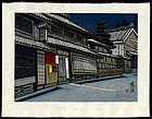 Jun'ichiro Sekino Tokiado Woodblock Print - Narumi