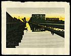 Jun'ichiro Sekino Tokaido Woodblock Print - Minakuchi