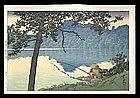 Hasui Woodblock - Lake Matsubara on a Morning