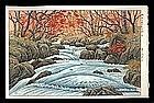 Ito Takashi Woodblock - Oirase in Autumn